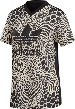 ADIDAS Animal Print shirt Dames Wit