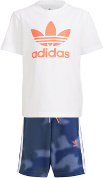 adidas Camo Print Short en T-shirt Set Jongens Wit