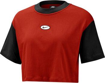Nike Sportswear Swoosh Short-Sleeve Top Dames Rood
