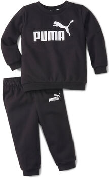 Puma Minicats Essential Crew kids joggingpak Jongens Zwart