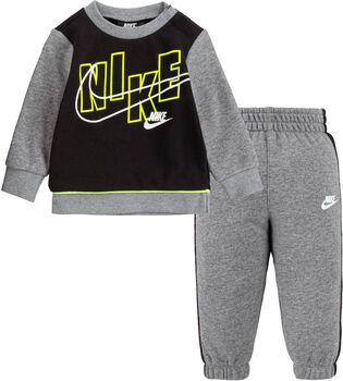 Nike Color Blocked Fleece Crew kids set Jongens Grijs