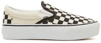 Vans Classic Slip-On Platform Checkerboard sneakers Zwart