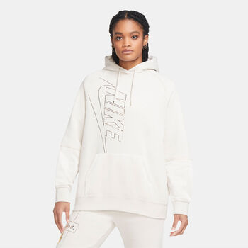 Nike Sportswear Icon Clash Fleece hoodie Dames Wit