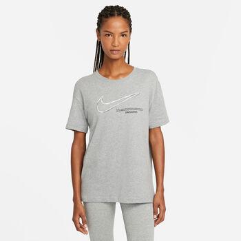 Nike Sportswear Swoosh t-shirt Dames Grijs
