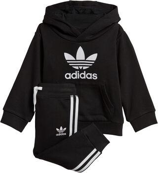 adidas Trefoil Hoodie Set Zwart