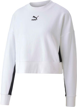 Puma Classic Cropped crew Dames Wit