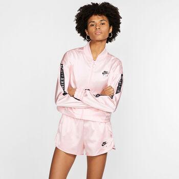 Nike Sportswear Air Satin trainingsjack Dames Rood