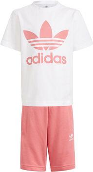 adidas Adicolor Short en T-shirt Set Jongens Wit