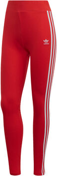 adidas 3-Stripes legging Dames Rood