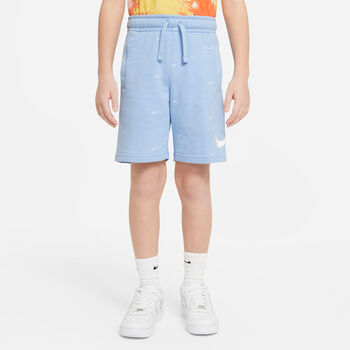 Nike Sportswear Swoosh kids French Terry short Blauw