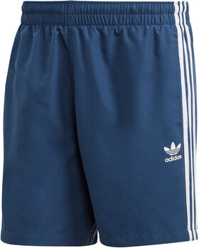 adidas 3-Stripes Zwemshort Heren Blauw