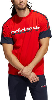 adidas 3-Stripe Split t-shirt Heren Rood