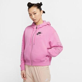 Nike Air Full Zip hoodie Dames Roze