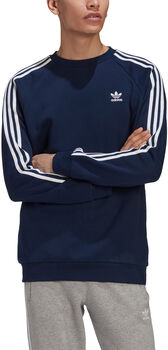 adidas 3-Stripes Crew sweater Heren Blauw
