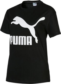 Puma Classics Logo shirt Dames Zwart