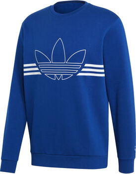 adidas Outline sweater Heren Blauw