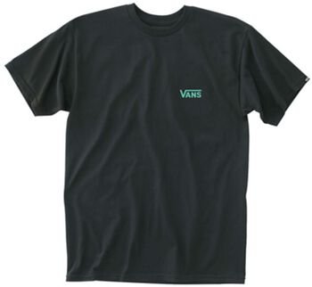 Vans Left Chest Logo t-shirt Heren Zwart