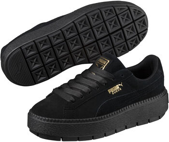 dbf5950ff36 Puma Suede Platform Trace sneakers Dames Zwart
