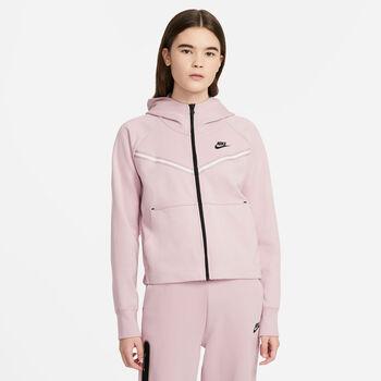 Nike Sportswear Tech Fleece hoodie Dames Roze