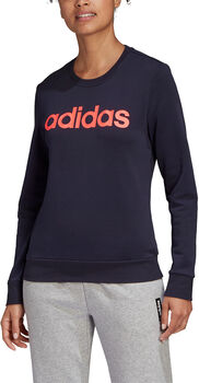 adidas Essentials Linear sweater Dames Blauw