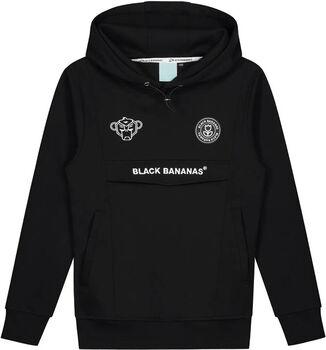Black Bananas Anorak kids hoodie Jongens Zwart