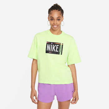 Nike Sportswear Washed t-shirt Dames Groen
