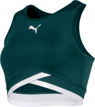 Puma Soft Sport Crop top Dames Groen
