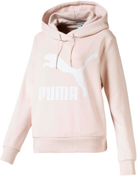 Puma Classics Logo hoodie Dames Roze
