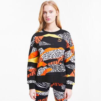 Puma Classics Graphics Crew hoodie Dames Wit