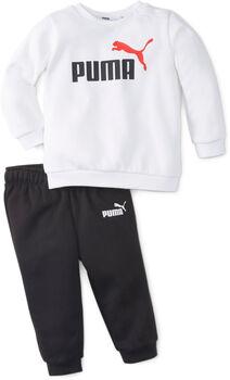 Puma Minicats Essential Crew kids joggingpak Jongens Wit
