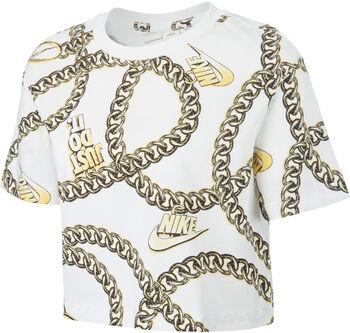 Nike Sportswear Glam Dunk Crop shirt Dames Wit