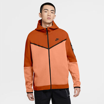 Nike Sportswear Tech Fleece hoodie Heren Oranje