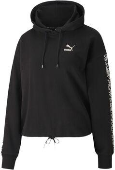 Puma Classics Cropped hoodie Dames Zwart