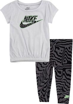 Nike Electric Zebra tuniek & legging kids set Meisjes Zwart