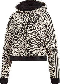 adidas Animal Print hoodie Dames Wit