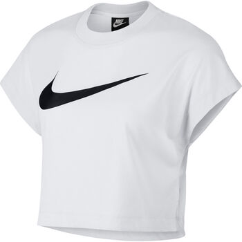 Nike Sportswear Swoosh Crop top Dames Wit