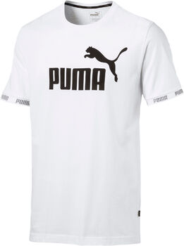 Puma Amplified Big Logo shirt Heren Wit