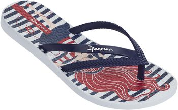 Ipanema Bossa Print jr slippers Jongens Wit