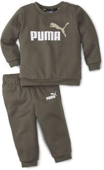 Puma Minicats Essential Crew kids joggingpak Jongens Groen