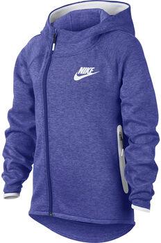 Nike Sportswear Tech Fleece hoodie Meisjes Paars