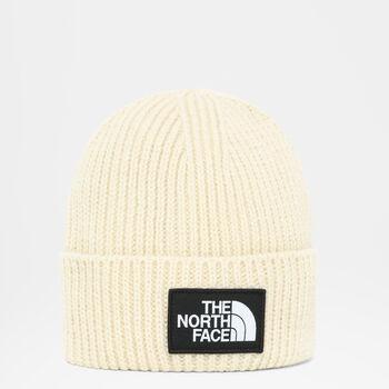 The North Face Logo Box Cuffed beanie Ecru