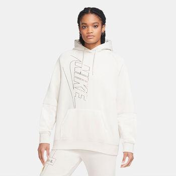 Nike Sportswear Icon Clash Fleece hoodie Dames Wit
