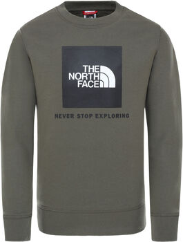 The North Face Box Crew kids sweater Jongens Groen
