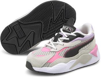 Puma RX-X3 Twill Air Mesh AC kids sneakers Jongens Grijs