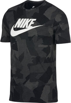 Nike NSW Plus Print 2 shirt Heren Zwart