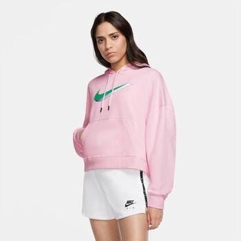 Nike Icon Clash Fleece hoodie Dames Rood