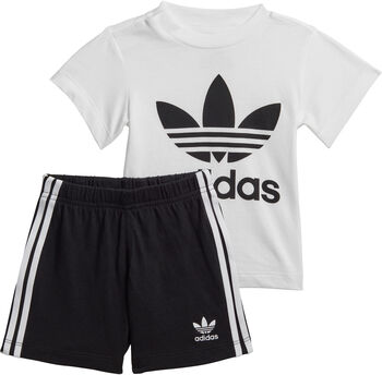 adidas Trefoil short / t-shirt kids set Jongens Wit