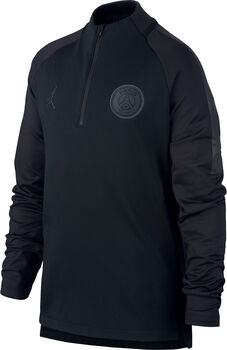 Nike Paris Saint-Germain Dry Squad jr longsleeve Jongens Zwart