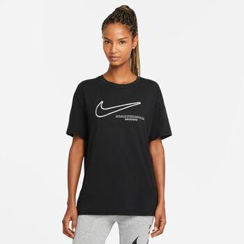 Nike Sportswear Swoosh t-shirt Dames Zwart