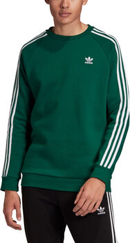 adidas 3-Stripes Crew sweater Heren Groen